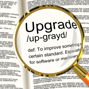 Upgrade Definition Magnifier Showing Software Update Or Installa