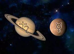 Сатурн и Меркурий